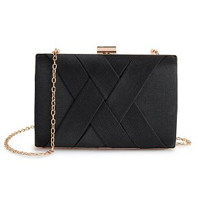 Lenore by La Regale Criss Cross Minaudiere Handbag
