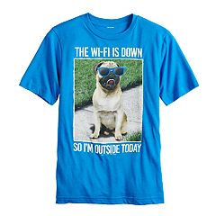Boys 8-20 'The Wi-Fi Down So I'm Outside Today' Graphic Tee