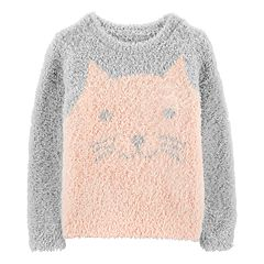 Toddler Girl Carter's Graphic Fuzzy Sweater