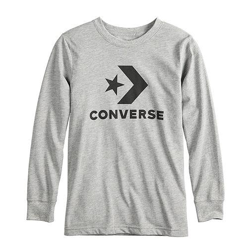 Boys 8-20 Converse Star Chevron Logo Long Sleeve Graphic Tee