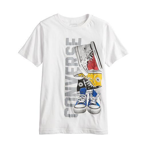 Boys 8-20 Converse Sneaker Pile Graphic Tee