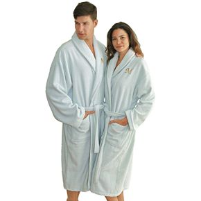 Linum Home Textiles Turkish Cotton Personalized Herringbone Weave Bathrobe