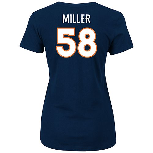 Women's Denver Broncos Von Miller Player Name & Number Tee