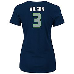 Women's Seattle Seahawks Russell Wilson Player Name & Number Tee