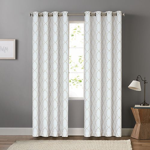 SONOMA Goods for Life™ 2-pack Embroidered Dynasty Blackout Window Curtain