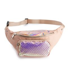 OMG Accessories Textured Hologram Textured Fanny Pack
