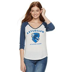 Juniors' Harry Potter Ravenclaw Crest Raglan Graphic Tee