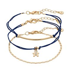 LC Lauren Conrad Gingerbread Man Bracelet Set