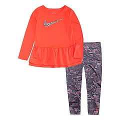 Toddler Girl Nike Peplum-Hem Tunic & Print Leggings Set