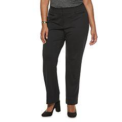 Plus Size Apt. 9® Ponte MidRise Straight-Leg Pants