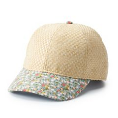 Women's Basket Weave Baseball Cap