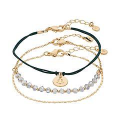 LC Lauren Conrad Christmas Tree Disc Bracelet Set