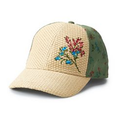 Women's Floral Embroidered Baseball Cap