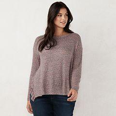 Plus Size LC Lauren Conrad Ruffle Tunic