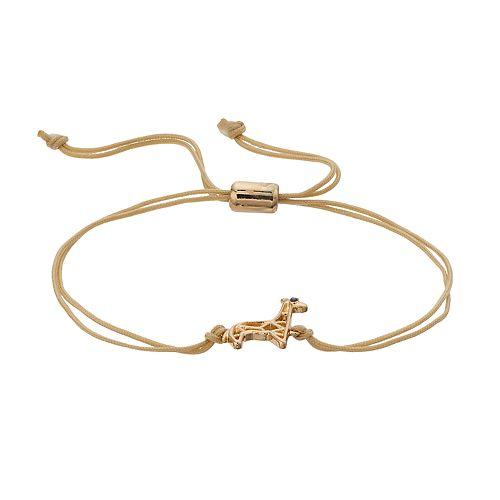 LC Lauren Conrad Giraffe Adjustable Bracelet