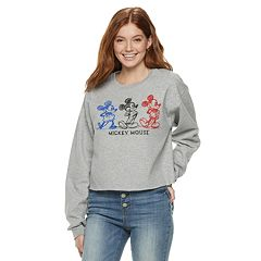 Disney's Mickey Mouse 90th Anniversary Juniors' Fleece Crop Pullover