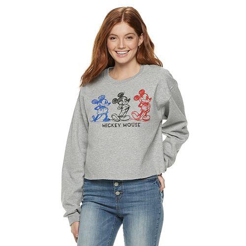 Disney's Mickey Mouse 90th Anniversary Juniors' Fleece Crop Pullover