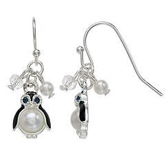LC Lauren Conrad Nickel Free Penguin Drop Earrings