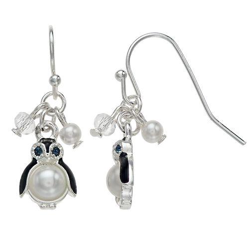 LC Lauren Conrad Nickel Free Penguin Drop Earrings