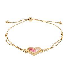 LC Lauren Conrad Pink Heart Bauble Shaker Adjustable Bracelet