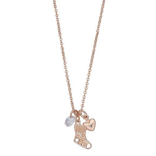 LC Lauren Conrad Stocking Pendant Necklace