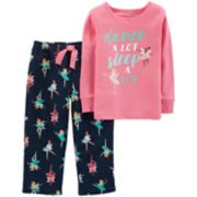 Baby Girl Carter's Top & Microfleece Bottoms Pajama Set