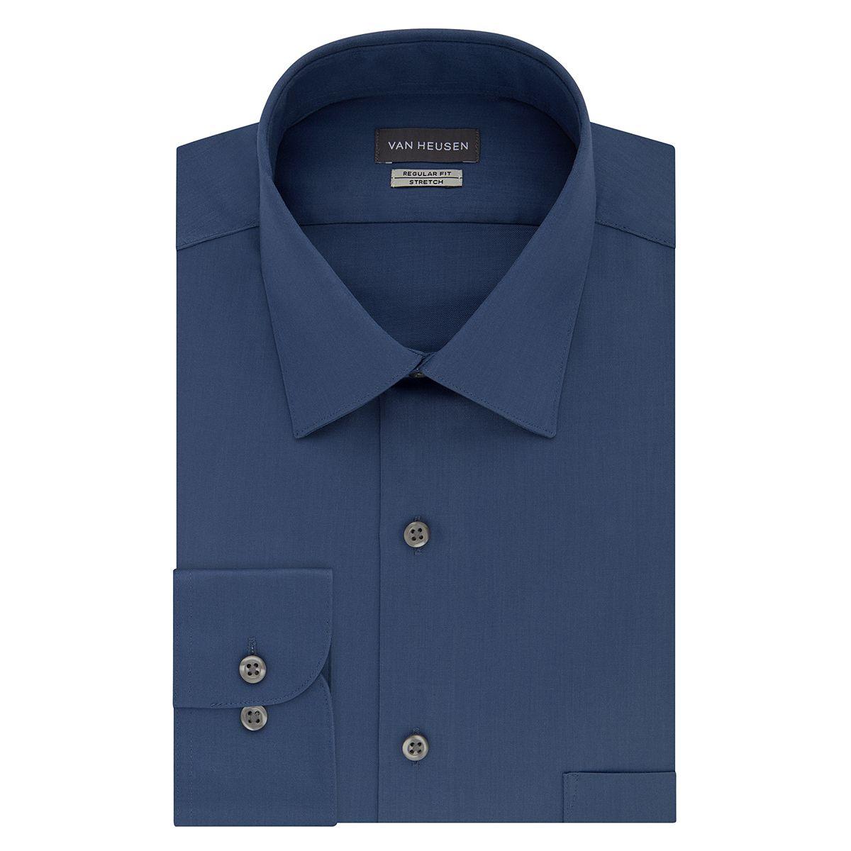 Van Heusen Slim-Fit Lux Sateen Stretch Sateen Dress Mens Shirt
