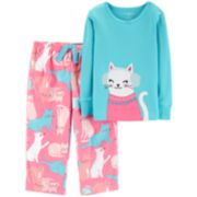 Toddler Girl Carter's Top & Microfleece Bottoms Pajama Set