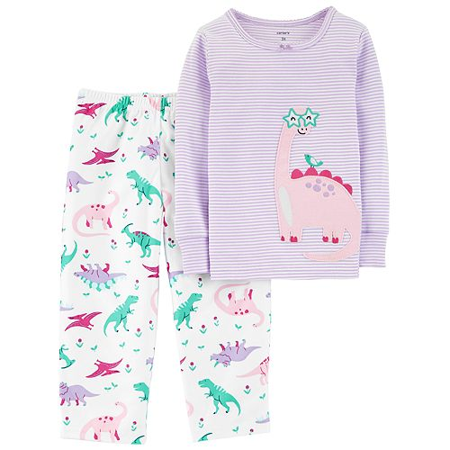 a41144182 New Carter s 2-Piece Purple Dinosaur Pajama Set - Toddler Girls 3 4 ...