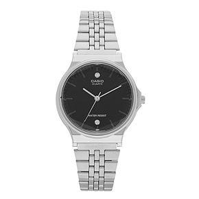 Men's Casio Diamond Accent Stainless Steel Watch - MQ1000D1A2OS