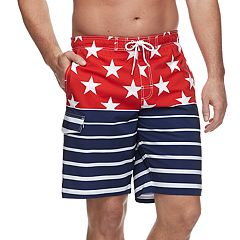 ab5c84fbf5 Big & Tall SONOMA Goods for Life™ Flexwear Swim Trunks. Blue Red Gray ...