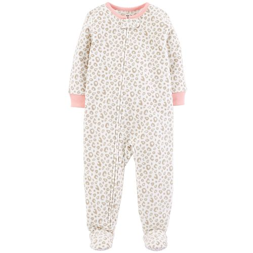 Toddler Girl Carter's Printed Microfleece Footed Pajamas