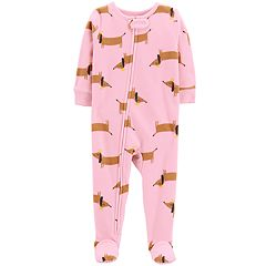 Toddler Girl Carter's Printed Microfleece Footed Pajamas