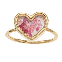 LC Lauren Conrad Heart Bauble Shaker Ring