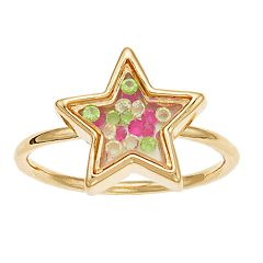 LC Lauren Conrad Star Bauble Shaker Ring