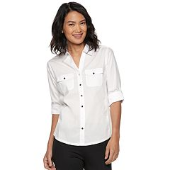 Petite Croft & Barrow® Button Down Top