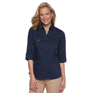 fb9f9b95 Sale. $24.99. Original. $36.00. Petite Croft & Barrow® Knit-to-Fit Shirt