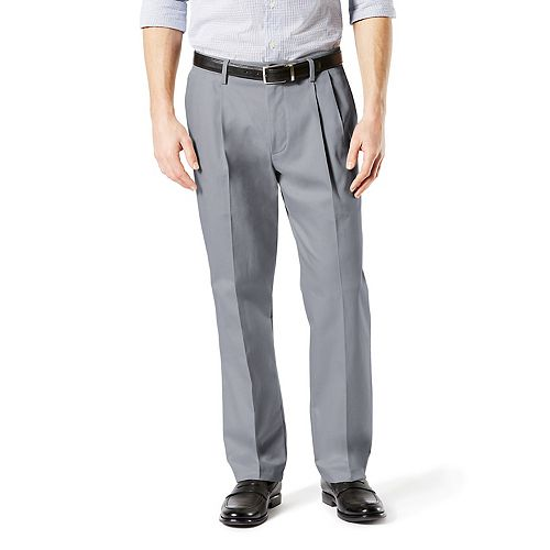Big & Tall Dockers® Signature Khaki Lux Classic-Fit Stretch Pleated Pants D3