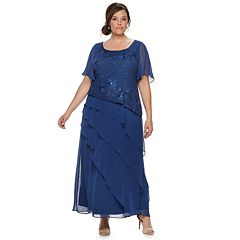 b49189c2115 Plus Size Le Bos Tiered Sequin Dress