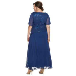 Plus Size Le Bos Tiered Sequin Dress