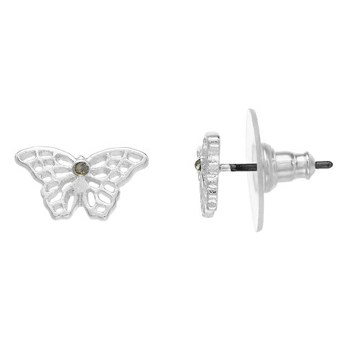 LC Lauren Conrad Nickel Free Butterfly Stud Earrings
