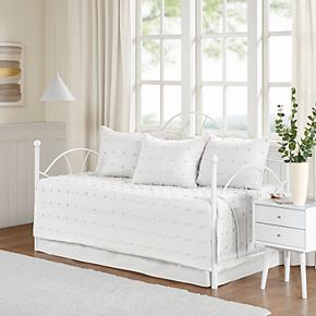 Madison Park Maize Cotton Jacquard Daybed Cover Set