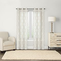 SONOMA Goods for Life™ Sumner 2-pack Trellis Embroidery Window Curtains