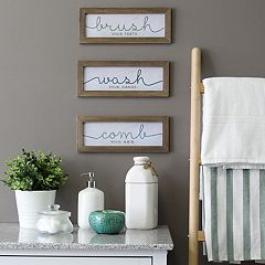 Stratton Home Decor Bathroom Wall Decor 3-piece Set
