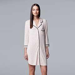 Women's Simply Vera Vera Wang Notch Collar Sleepshirt