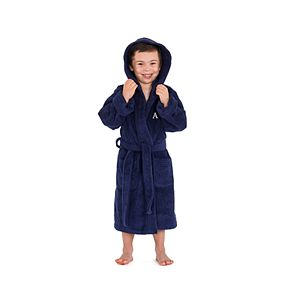 Linum Home Textiles Kids Personalized Hooded Terry Bathrobe