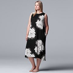 Plus Size Simply Vera Vera Wang Floral Maxi Chemise