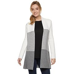 Women's ELLE™ Textured-Stripe Coatigan