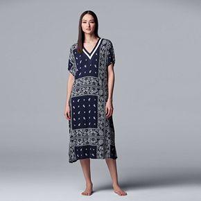 Women's Simply Vera Vera Wang Striped Long Caftan