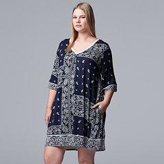 Plus Size Simply Vera Vera Wang Paisley Print Sleepshirt